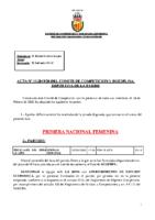 ACTA Nº 15 FEDERADA 2019-2020