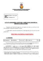ACTA Nº 16 FEDERADA 2019-2020