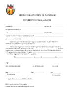 Documento de baja de jugador y tecnico ARAGON