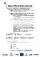 Juvenil Masc – Normativa especifica 2019-20