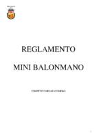 Reglamento MINI BALONMANO en Aragon