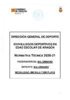 Normativa especifica Escolares Balonmano 2020-2021