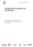 Sistema competición 1ª Territorial masculina y protocolo