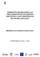 Modificación competiciones – Reunión de clubes 04 mayo