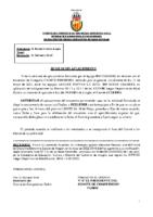 RESOLUCION APLAZAMIENTO CADETE FEMENINO BM COLORES