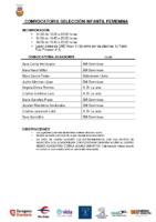 CONVOCATORIA SELECCION IF 31-08 01-09 y 03-09
