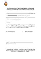 Autorización realización Test antígenos